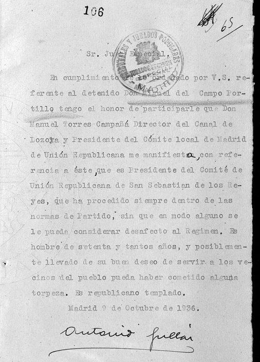 El arresto masivo del 13 de agosto de 1936